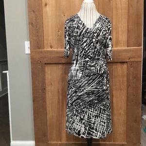 Evan-Picone Dress Size 16 EUC Black & White